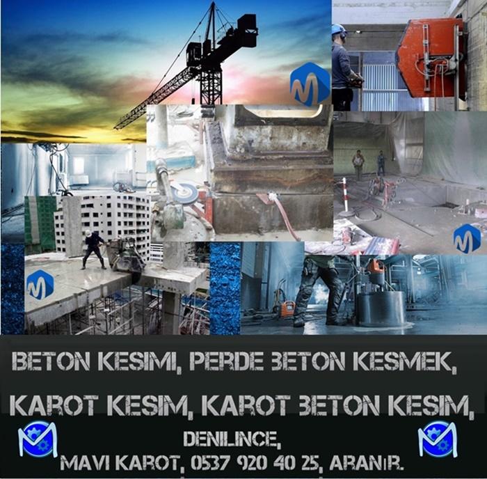 Beton kesimi, perde beton kesmek, karot kesim, karot beton kesim, Denilince, Mavi karot, 0537 920 40 25, aranır.